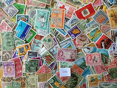 300 Different Rhodesias pre-Independence Stamp Collection