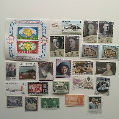 100 Different St Helena Stamp Collection