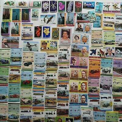 200 Different St Kitts Nevis Anguilla Stamp Collection