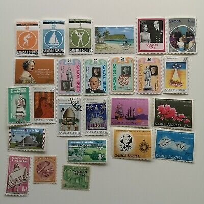 100 Different Samoa Stamp Collection