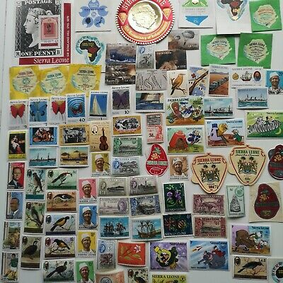 300 Different Sierra Leone Stamp Collection