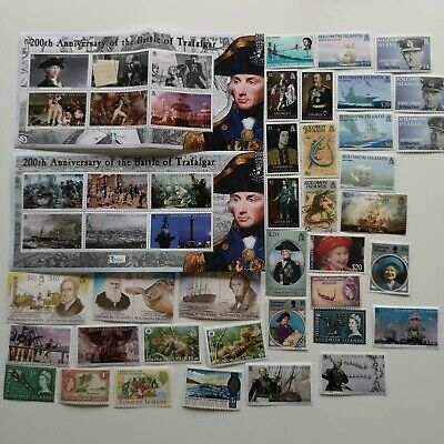 300 Different Solomon Islands Stamp Collection