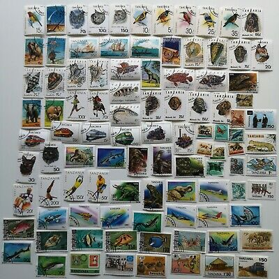 500 Different Tanganyika/Tanzania Stamp Collection