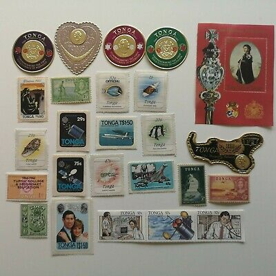 100 Different Tonga Stamp Collection