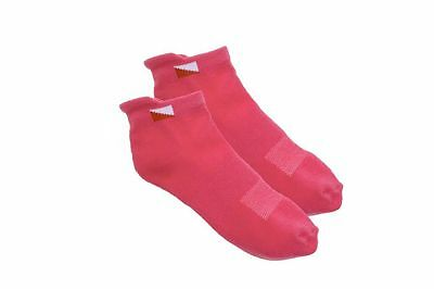 JRB Padded Sole/Heel Golf Socks Cotton Liner/Trainer White/Pink/Grey/Lime Green