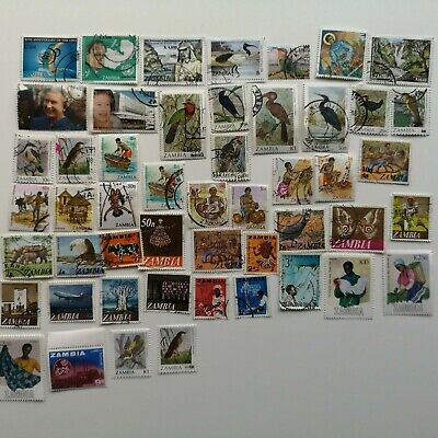 300 Different Zambia Stamp Collection