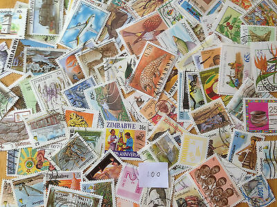 300 Different Zimbabwe Stamp Collection