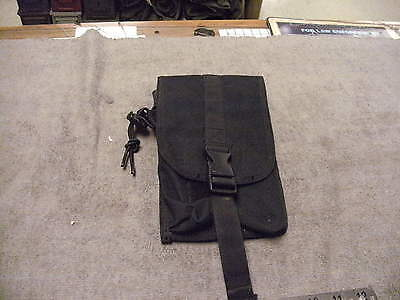 US Military Issue Black Nylon Long Molle Type Pouch, See Pictures