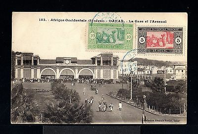 9480-SENEGAL-OLD POSTCARD DAKAR to TOULON(france)1924.FRENCH Colonies.Africa.