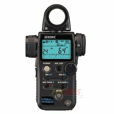 Sekonic L-758 Cine DigitalMaster L758C Light Meter Flash CE Version for Euro NEW