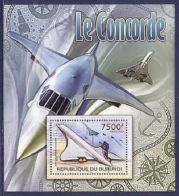 Concorde Plane Aviation Burundi MNH S/S stamp 2012