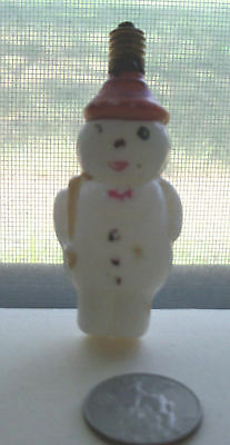 Vintage Christmas Light, A Snow Man