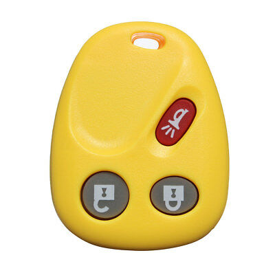 New 3 Buttons Entry Remote Key Fob Shell Case With Rubber Pad For GMC Chevrolet