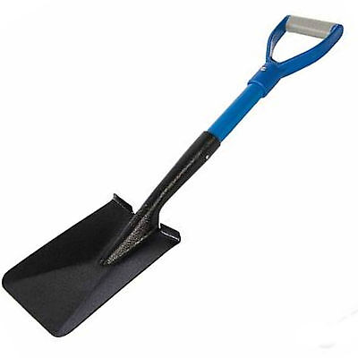 Silverline Trench Spade Shovel Metal Blade D Handle Strong Fibreglass Shaft 25T