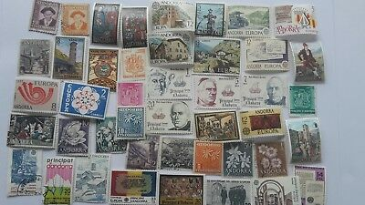 50 Different Andorra (Spanish) Stamp Collection