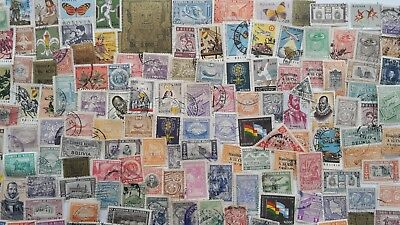 300 Different Bolivia Stamp Collection