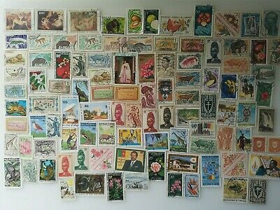 200 Different Cameroon Stamp Collection