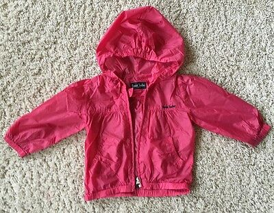 Girls Pink Very Light Wind Jacket  3-4 years