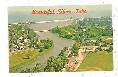 Aerial Looking East over Silver Lake Rehoboth Bea DE Postcard 040516