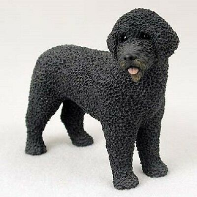PORTUGUESE WATER DOG Hand Painted FIGURINE Resin Statue COLLECTIBLE puppy NEW