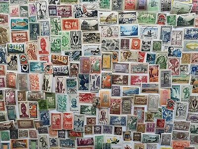 500 Different French Colonies (pre-independence only) Stamp Collection