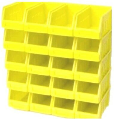 40 Yellow Size 2 Plastic Stacking Parts Storage Pick Bins Garage Home Workshop