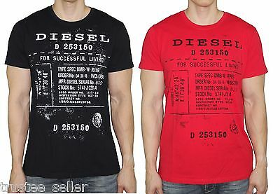 225c0493 Diesel Brand Men's T Diego fz Slim Fit Code printed Vintage Tee T Shirt Top