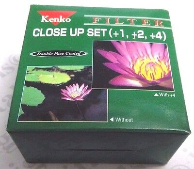 Genuine 55mm Kenko Close-Up Macro +1 +2 +3 Set Kit Lens Filter OEM Japan 55 mm