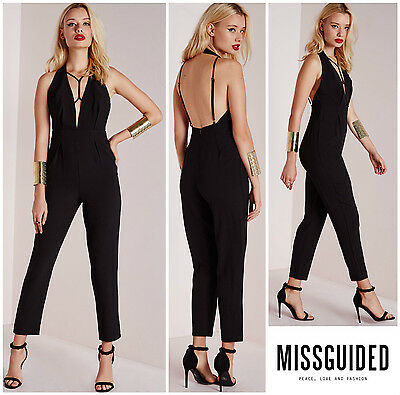 1cb6a98ed72 MISSGUIDED CHIC HARNESS STRAP DETAIL JUMPSUIT Sz 2 UK 6 NEW Nordstrom