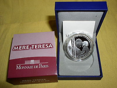 Frankreich  10 Euro Silber 2010 PP  Mutter Theresa