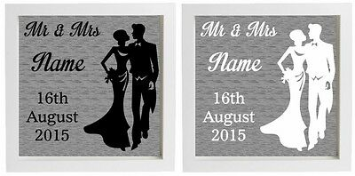 Vinyl Sticker for DIY Box Frame - MR & MRS WEDDING GIFT - personalise name/date