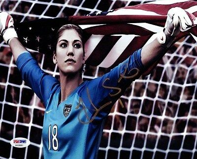 Hope Solo Autographed Signed 8X10 Photo Team Usa Psa/dna Stock #101395