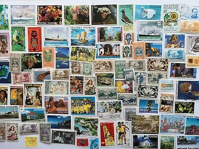 100 Different French Polynesia Stamp Collection