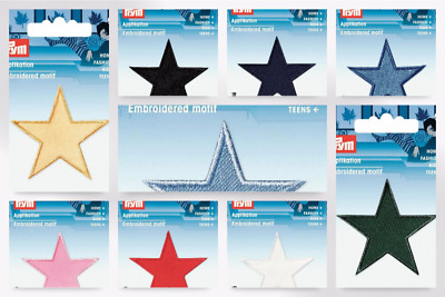 Prym Iron On Embroidered Star Motif Applique - per pack of 2 (923150-M)