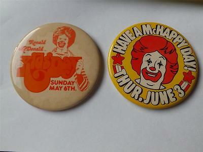 RONALD MCDONALD KIDS DAY McHAPPY DAY VINTAGE BUTTON PIN BACK LOT MCDONALDS CLOWN