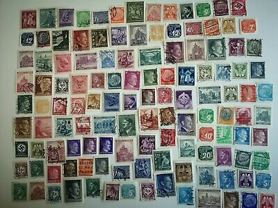 200 Different Germany 3rd Reich (1933/45 with Territories) Stamp Collection