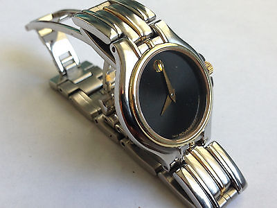 Women's Ladies Authentic Swiss Movado  Stainless Bangle Watch