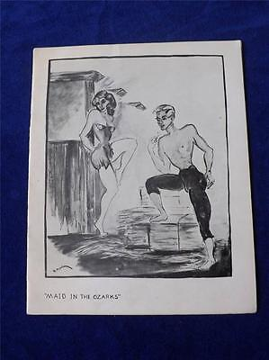 Maid In The Ozarks Playbill Theatre Information Brochure Booklet Vintage
