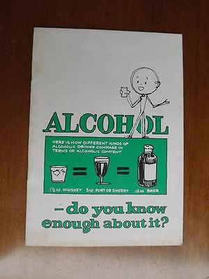 Alchol Do You Know Enough About It? Information Book Statistics Vintage