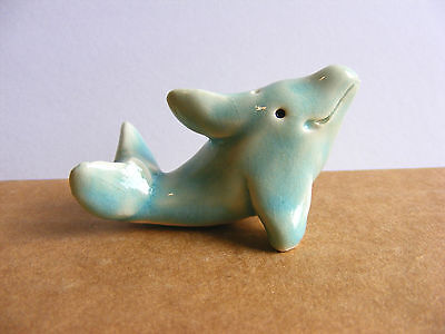 Little Guys Dolphin Miniature Animal Figurine Cindy Pacileo Pottery Wildlife