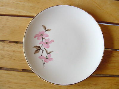 Pink Dogwood Knowles USA 4 bread butter plates designed Kalla