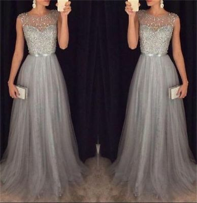 New Sexy Long Bridesmaid Formal Ball Gown Party Cocktail Wedding Evening Dress