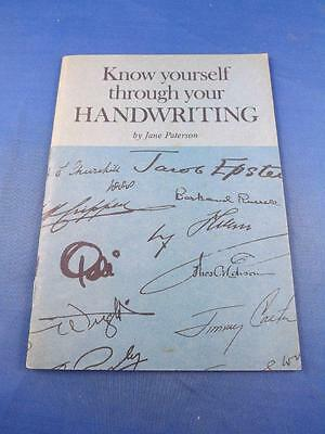 Booklet Know Yourself Through Your Handwriting Jane Paterson 1978