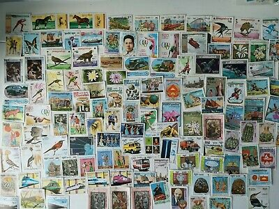 500 Different Kampuchea Stamp Collection