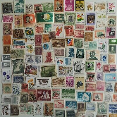 500 Different Latin America Stamp Collection