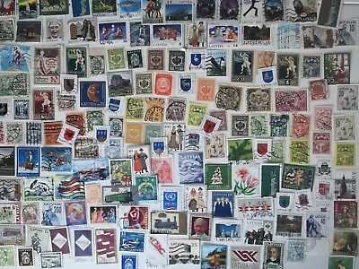 200 Different Latvia Stamp Collection
