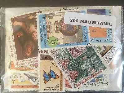 200 Different Mauritania Stamp Collection