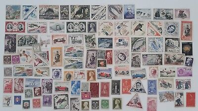 500 Different Monaco Stamp Collection