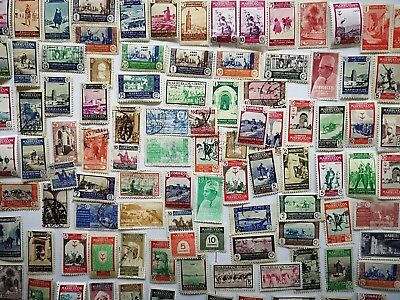100 Different Morocco (Spanish) Stamp Collection