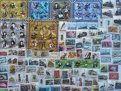 200 Different Mozambique Stamp Collection